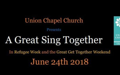 """A Great Sing Together"" at the Union Chapel Church"