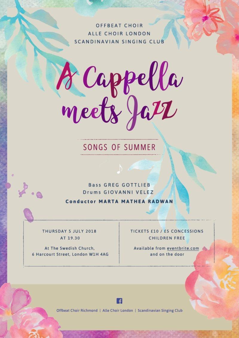 """A cappella meets jazz"""" -"""