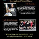 An evening of world music – Alle Choir London at Union Chapel