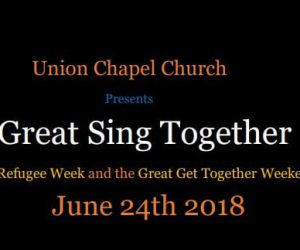 """""""A Great Sing Together"""" at the Union Chapel Church"""